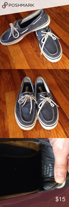 Blue Canvas Sperry Boat Shoes, Size 10 Men's size 10 Sperry canvas boat shoes. Great condition, but loved! Sperry Top-Sider Shoes Boat Shoes