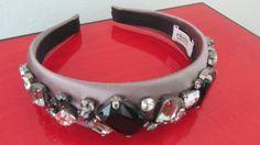 PRADA-Satin-and-Jewel-Encrusted-Hairband-Headband