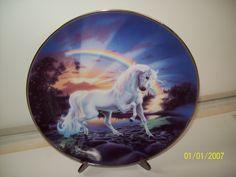 Rainbow Diamond Unicorn plate