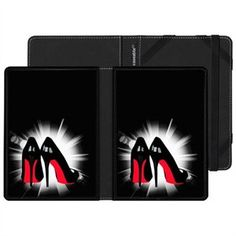 Kindle Touch Case with Louboutin Design by Aurelie Scour 1 of 1 Black And White Office, Black And White Colour, School Style, School Fashion, Kindle, Touch, Red, Stuff To Buy, Shopping