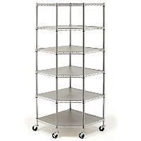 Seville Classics Heavy Duty Steel 6-Tier Corner Shelf - Sam's Club for garage storage