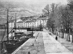 Bilbao, docks of the Arenal and Sendeja, ca. 1900.