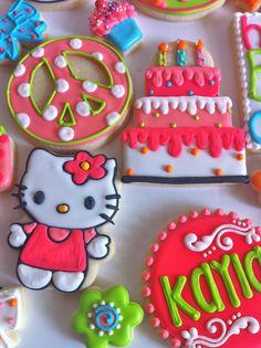Hello Kitty  birthday cookies