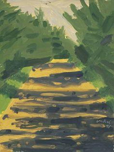 Alex Katz, 'Road' 1998 Abstract Landscape, Landscape Paintings, Alex Katz, Art Fund, Framed Canvas Prints, Arte Pop, Henri Matisse, American Artists, Painting & Drawing