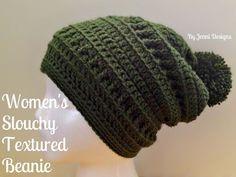 By Jenni Designs: Free Crochet Pattern: Women's Slouchy Textured Bea...
