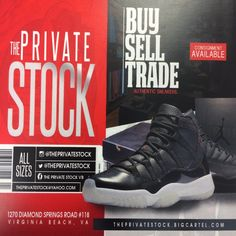 All Things Sneakers... Buy/Sell/Trade/Consignment Follow on Instagram @ThePrivateStock