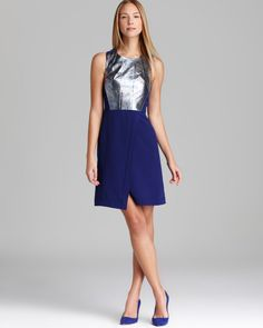 Metallic with bright blue
