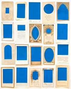dorfner: Monochrome (blue #1) Acrylic on antique... - Monochrome, Leo, Creeped Out, Inside Job, Let Your Light Shine, Ceramic Houses, Tumblr, Prayer Cards, Antique Prints