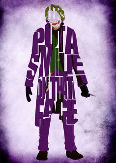 16 Creative Typography Posters of Famous Fictional Characters