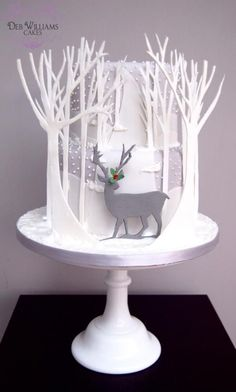 Reindeer in a winter wonderland - Cake by Deb Williams Cakes