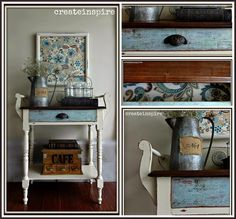 I came across this little, vintage server by someone tagging me on my local FB classifieds page. I just love that people are so thoughtful. Chalky Paint, White Painted Furniture, White Paints, Furniture Projects, Entryway Tables, House, Vintage, Home Decor, Painting