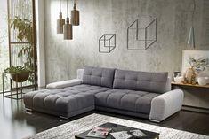 Coltar extensibil Wava cu sezlong pe stanga #homedecor #interiordesign #inspiration #livingroom #decoration Sofa Bed, Couch, Corner Sofa, Modern Design, Living, Furniture, Home Decor, Living Room, Sleeper Couch