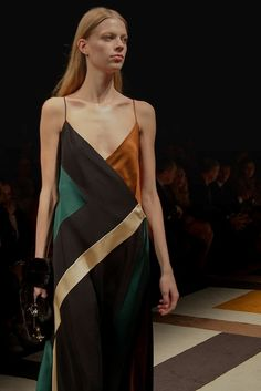 Satin slip at Salvatore Ferragamo AW15 MFW. See more here: http://www.dazeddigital.com/fashion/article/23910/1/salvatore-ferragamo-aw15
