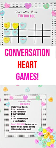 Conversation Heart Games – Val Event Gal