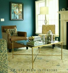 Ugh! I Hate My New Wall Colors--Six Easy Steps For Getting it Right Every Time- Benjamin Moore Buckland Blue in a living room / family room