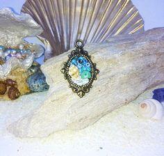 Handmade ocean theme pendant shell pendant handmade pendant