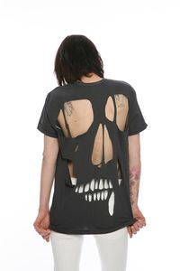 skull cut t-shirt. - seriously may do this one...