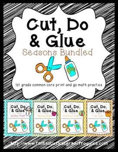 Cut, Do & Glue Seasons Bundled- Winter, Spring, Summer and Fall