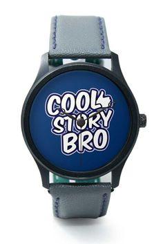 Cool Story Bro illustration Premium Men Wrist Watch