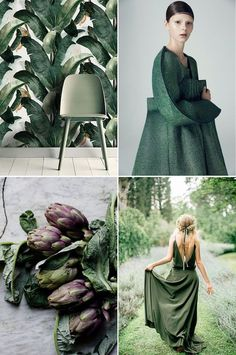 Awesome Spring Fashion Trends Color to watch : Pantone& Kale - French By Design. Color Of The Year 2017, 2018 Color, Color Trends, Color Combinations, Color Schemes, Design Trends, Color Stories, Color Pallets, Pantone Color