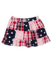NEW Gymboree Size 4T 4TH Fourth of July Skirt Red White Blue Plaid Stars NWT Free Ship No slice