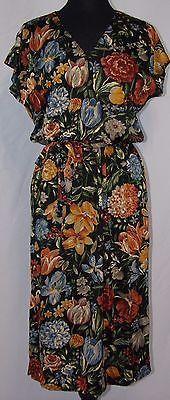 Vintage 70's Floral Print Dress