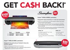 Get cash back on qualifying Swingline Fusion Laminators #rebate