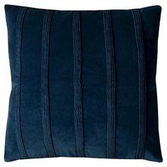 "Pintuck Stripes Throw Pillow Navy (22""x22"") - Rizzy Home® : Target"
