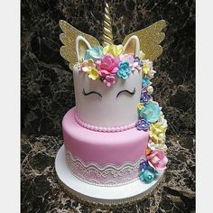I made this from scratch Unicorn Themed Birthday, Birthday Cake Girls, Unicorn Party, Birthday Party Themes, Unicorn Cakes, Beanie Boo Birthdays, Girl Cakes, Beautiful Cakes, Cupcakes