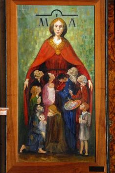 Madonna della Misericordia, Longaretti, Trento – Opere e oggetti d ... Blessed Mother Mary, Divine Mother, Blessed Virgin Mary, Queen Of Heaven, Immaculate Conception, Madonna And Child, Religious Art, Our Lady, Heavenly