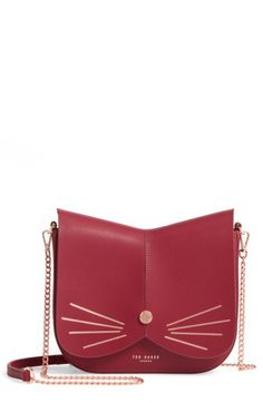 5c0a30ca4 Ted Baker London Ted Baker London Kittii Cat Leather Crossbody Bag  available at  Nordstrom Black