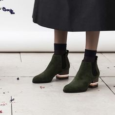 FLOAT BOOTS, GREEN by Dear Frances