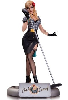 DC Comics Bombshells Black Canary Statue  I want this so bad.. so very, very bad.