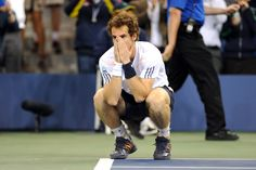 Andy Murray (GBR)[3] after defeating Novak Djokovic (SRB)[2] in the 2012 US Open Men's Singles Final. - Rob Loud/USTA