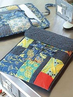 ffa55fdd5 Use traditional quilting methods with modern fabrics or fat quarters to  create this fun laptop keeper. This Laptop Keeper is roomy enough to safely  store ...