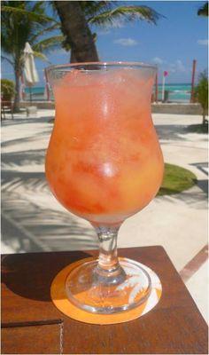 Planter's Punch #Recipe: Dark rum, orange juice, pineapple juice, grapefruit juice,lime juice, grenadine