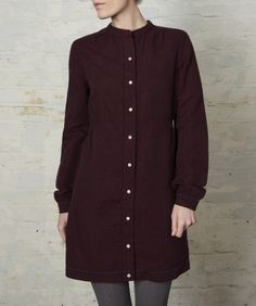 Overdyed Printed Shirt Dress