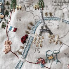 Stitch a stylised map of a place you love ... embroidery ideas.