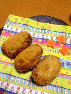 千香ちゃんの手作り。少し焦げてしまった…(・・;) - 1件のもぐもぐ - かぼちゃコロッケ by iecoco2oo9