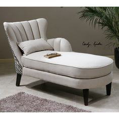 @Overstock - Zea Chaise Lounge - The Zea chase lounge features a classic, solid wood construction complemented by a channel-back tailored in stain protected, soft linen with zebra patterned tapestry on the back. The ebony finish and built-in legs pull this lounge together. http://www.overstock.com/Home-Garden/Zea-Chaise-Lounge/8667459/product.html?CID=214117 $1,359.99