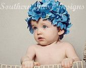 Southern Baby Designs - sdauben - little rock - hydrangea photo props (hats and bloomers)