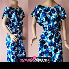 Ending Soon - Vintage 1970s C&A Abstract Blue Gathered Printed Scoop Neck Boho Spring Dress  http://www.ebay.co.uk/itm/Vintage-1970s-C-A-Abstract-Blue-Gathered-Printed-Scoop-Neck-Boho-Spring-Dress-14-/371580578096?ssPageName=STRK:MESE:IT