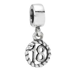 Pandora Black Friday 2013 Silver 18th Birthday Charm 790495