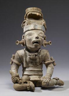 Battered Warrior (?) Figure. Remojadas, A.D. 600-900 (Late Classic)