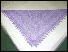 Finished size wide x long 1546 size beads (Silver lined Royal Purple from Fusion Beads). 7 days to knit shawl, 6 days to knit edging. Once I use up all the size beads I have, I'm. Lace Knitting, Crochet Lace, Fusion Beads, Mabon, Knitted Shawls, Ravelry, Purple, Knit Shawls, Melting Beads