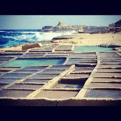 The salt pan coast in Gozo