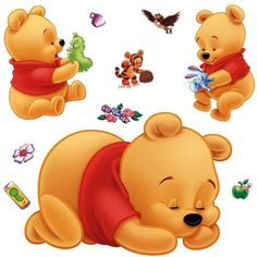 winnie the pooh wall stickers for kids rooms removable cartoon nursery wall decals adhesive children's bedroom wall murals Small Wall Stickers, Disney Wall Decals, Kids Room Wall Stickers, Nursery Wall Stickers, Removable Wall Stickers, Winnie Pooh Tapete, Winnie The Pooh Cartoon, Winnie The Pooh Pictures, Winnie The Pooh Nursery