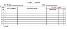 [Dokumen] Contoh Format Agenda Harian Kelas Semua Jenjang Sekolah Tahun Ajaran 2016-2017 Format Microsoft Word [.doc]