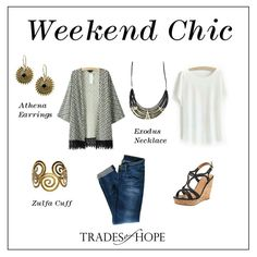 Weekend Chic with Trades of Hope #tradesofhope #sustainablebusinesses #helpingwomenoutofpoverty #fairtrade #fairtradefashion #hopeishere #buyfairtrade
