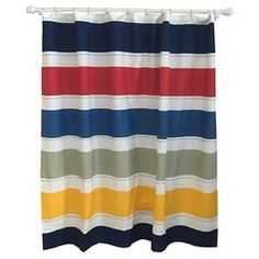 Warm Rugby Stripe Shower Curtain Multicolored - Pillowfort™ : Target